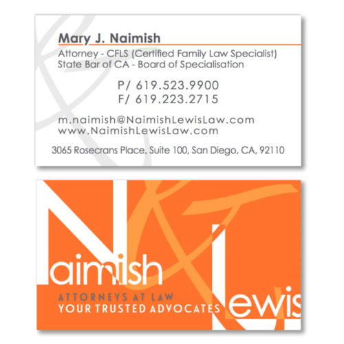 Naimish & Lewis Business Cards
