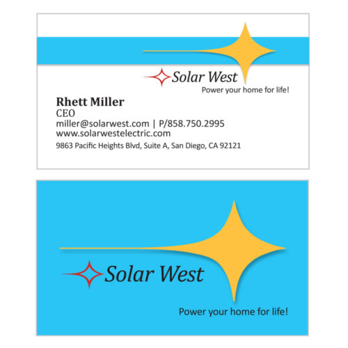 Solar West Business Cards