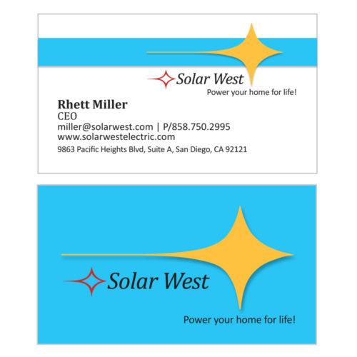 Solar West Business Cards